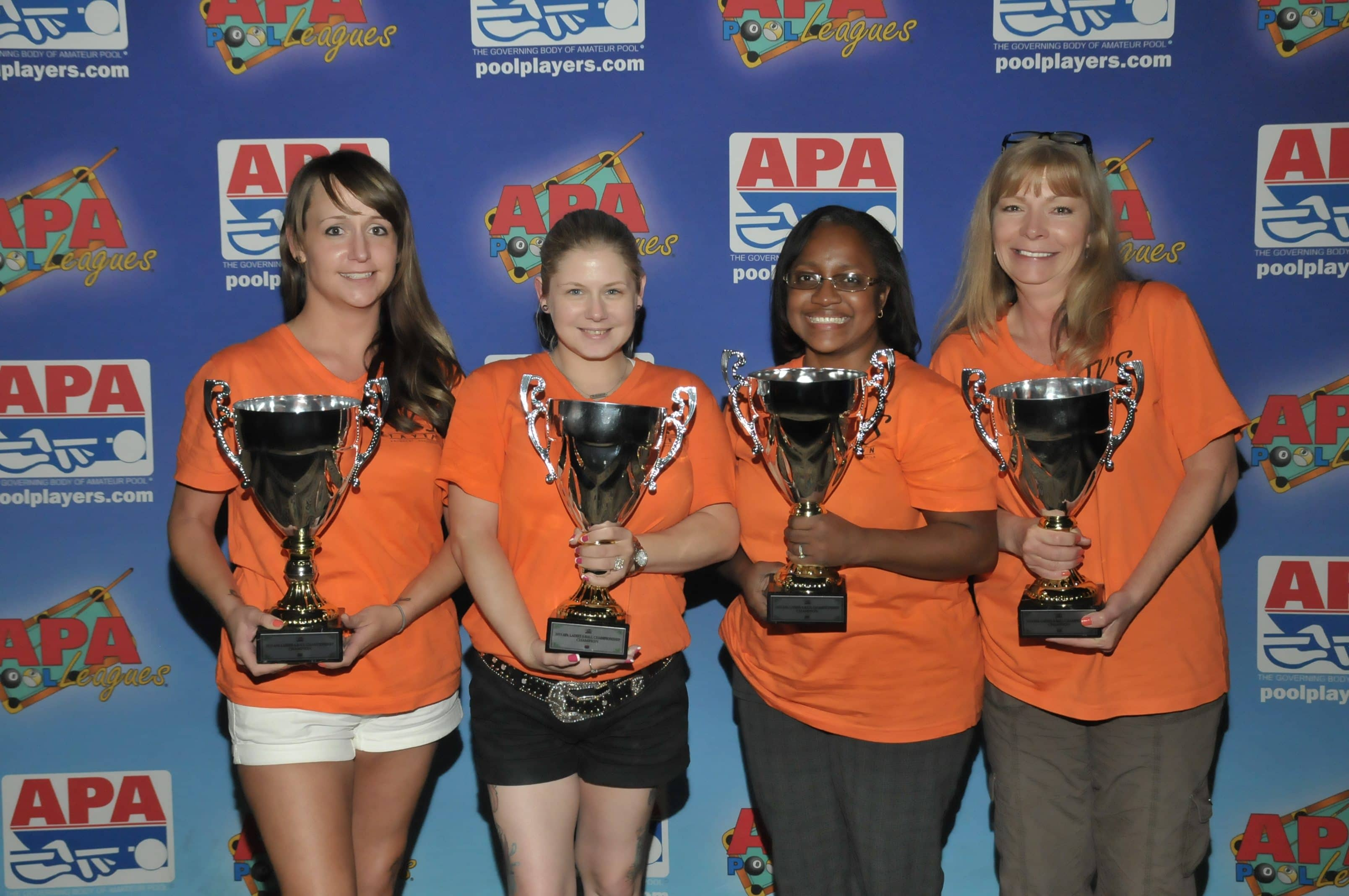 Champions: Just Like This! of Shreveport, LA (L to R): Hope Lawrence, Ashley Moras, Yolanda Phonphila, Tina Grosjean