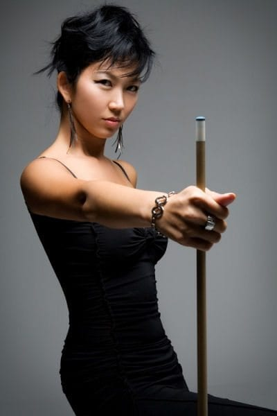 JEANETTE LEE with cue