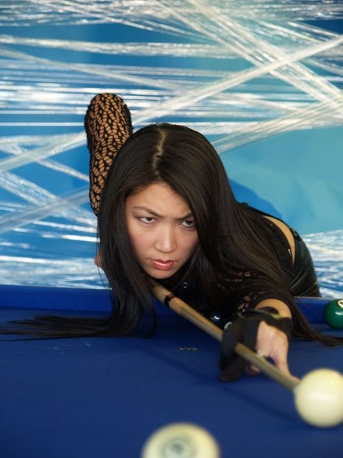 JEANETTE LEE taking a shot